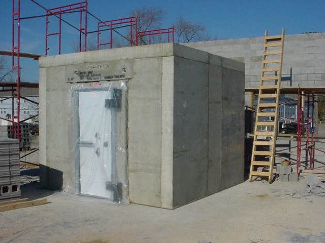 Frank zykan safe vault llc vault doors panic rooms for How to build a gun vault room